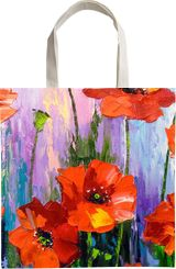 Blooming poppies, Paintings, Impressionism, Botanical, Floral, Nature, Canvas, Oil, Painting, By Olha   Vyacheslavovna Darchuk