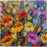 Bouquet of flowers for happiness, Paintings, Abstract, Impressionism, Analytical art, Floral, Canvas, Oil, Painting, By Olha   Vyacheslavovna Darchuk