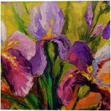 Bouquet of irises, Paintings, Expressionism, Impressionism, Botanical, Floral, Canvas, Oil, Painting, By Olha   Vyacheslavovna Darchuk