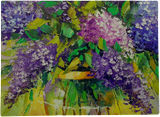 Bouquet of lilac in a vase, Paintings, Fine Art, Impressionism, Botanical, Floral, Canvas, Oil, Painting, By Olha   Vyacheslavovna Darchuk