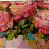 Bouquet of roses, Paintings, Impressionism, Botanical, Floral, Nature, Canvas, Oil, Painting, By Olha   Vyacheslavovna Darchuk