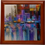 City Tetris, Paintings, Abstract, Expressionism, Analytical art, Architecture, Cityscape, Landscape, Canvas, Oil, Painting, By Olha   Vyacheslavovna Darchuk