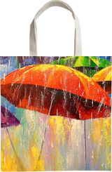 Dancing umbrellas, Paintings, Expressionism, Fine Art, Impressionism, Botanical, Cityscape, Dance, Fantasy, Landscape, Canvas, Oil, Painting, By Olha   Vyacheslavovna Darchuk