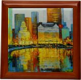 In New York's Central Park, Paintings, Expressionism, Impressionism, Architecture, Landscape, Canvas, Oil, Painting, By Olha   Vyacheslavovna Darchuk