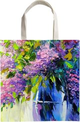 Lilac bouquet, Paintings, Impressionism, Botanical, Floral, Canvas, Oil, Painting, By Olha   Vyacheslavovna Darchuk