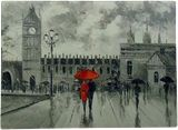London, Paintings, Impressionism, Architecture, Daily Life, Canvas, Oil, Painting, By Olha   Vyacheslavovna Darchuk