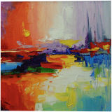 The sound of sunset, Paintings, Abstract, Expressionism, Impressionism, Anatomy, Landscape, Canvas, Oil, Painting, By Olha   Vyacheslavovna Darchuk