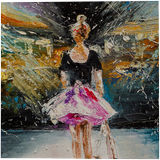 Dreams about scene, Paintings, Impressionism, Children, Dance, People, Oil, By Liubov Kuptsova