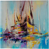 Illusive boats, Paintings, Abstract, Landscape, Seascape, Oil, By Liubov Kuptsova