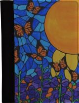 Butterfly sunshine, Mosaic, Paintings, Stained Glass, Abstract, Expressionism, Fine Art, Botanical, Floral, Canvas, By Rachel Olynuk