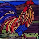 Fancy Rooster, Paintings, Fine Art, Surrealism, Animals, Landscape, Canvas, By Rachel Olynuk