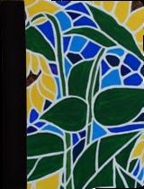 aa115fa3b5f94c Sunflower Saturday - Hardbound Portfolio Cover for Legal Note Pad Inside ...