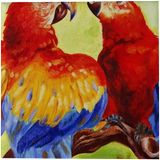 LOVE BIRDS, Paintings, Realism, Animals, Canvas, By RAGUNATH VENKATRAMAN