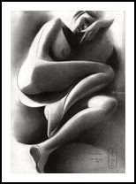 Roundism – 07-08-20, Drawings / Sketch, Cubism, Fine Art, Realism, Surrealism, Composition, Erotic, Figurative, Inspirational, Nudes, People, Pencil, By Corne Akkers