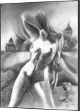 Tristan & Isolde – 09-12-19, Drawings / Sketch, Fine Art, Surrealism, Anatomy, Animals, Composition, Fantasy, Figurative, Historical, Inspirational, Landscape, Nudes, People, Pencil, By Corne Akkers