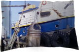 Ship in Richmond California, Photography, Fine Art, Realism, Window on the World, Photography: Stretched Canvas Print, By Julie Ann Steinhauer