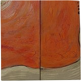 b63bbd2c6352e4 ... Glass Coaster (Square) Hot orange gold rusty iron A113 Abstract  Painting vertical wall art ...