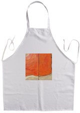 4ce10af3653720 ... White Apron Hot orange gold rusty iron A113 Abstract Painting vertical  wall art ...