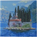 St. George island.Montenegro (acrylic on canvas), Paintings, Realism, Landscape, Acrylic, By Victoria Trok