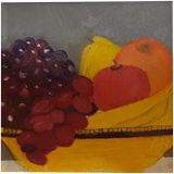 My Fruit Bowl, Paintings, Fine Art, Still Life, Canvas, Oil, Painting, By Lana Karin Fultz