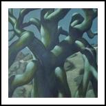 2AM - April, Paintings, Fine Art,Realism,Surrealism, Figurative,Land Art,Landscape,Nature,The Unconscious, Canvas,Oil,Painting, By Richard Michael Ferrugio
