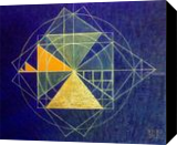 3-4-5 Egyptian Triangle, Paintings, Cubism,Symbolism, Analytical art,Conceptual,Historical,Inspirational, Canvas,Oil, By Oleg Bazylewicz