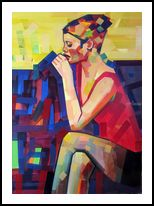 Hungry for Attention, Paintings, Cubism, Pop Art, Figurative, Canvas, Wood, By Piotr Ryszard Kachny