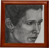 A Long Time Ago... Leia 2, Drawings / Sketch, Realism, Fantasy, Pencil, By Marty Jones