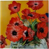 Anemones, Paintings, Photorealism, Floral, Canvas, Oil, By Anna Rita Rita Angiolelli
