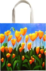 CALIFORNIA POPPIES, Paintings, Realism, Floral, Oil, By Zenon Wladyslaw Rozycki