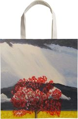 Red Tree in Storm, Paintings, Modernism, Landscape, Acrylic, By melanie ann lutes