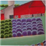 RedBarn in Lavender, Paintings, Abstract, Landscape, Acrylic, By melanie ann lutes
