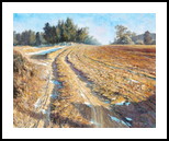 Country Field in Winter, Namwon, Paintings, Impressionism, Landscape, Canvas, Oil, By Mason Mansung Kang