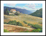 Heat of Fiesole, Paintings, Impressionism, Landscape, Canvas, Oil, By Mason Mansung Kang