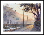 Morninglight at Namwon, Paintings, Impressionism, Landscape, Canvas, Oil, By Mason Mansung Kang