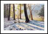 Snow on the Hill, Paintings, Impressionism, Botanical, Landscape, Canvas, Oil, By Mason Mansung Kang