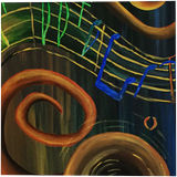 The ART of Music, Decorative Arts, Paintings, Fine Art, Surrealism, Conceptual, Acrylic, By adam santana