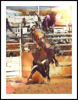 Rodeo IV, Digital Art / Computer Art, Realism, Animals, People, Digital, By Simon Lewis Mapp
