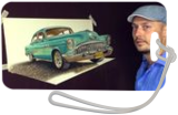 3D Art /Old Cuban Classic Car painting, Architecture,Carvings,Drawings / Sketch,Paintings, Expressionism,Fine Art,Impressionism,Photorealism,Realism, 3-D,Architecture,Still Life, Oil,Painting, By Stefan Pabst