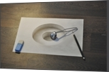 3d bowl on 2d paper, Drawings / Sketch, Realism, 3-D, Oil, By Stefan Pabst