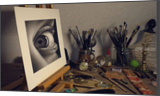 3D DRAWING of an eye /realistic portraiture by Stefan Pabst, Drawings / Sketch, Paintings, Dadaism, Existentialism, Expressionism, Fine Art, Photorealism, Realism, 3-D, Anatomy, Figurative, People, Portrait, Charcoal, Oil, Painting, Pastel, Pencil, By Stefan Pabst