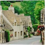 Prettiest Villages In Cotswolds, Paintings, Fine Art, Window on the World, Watercolor, By Angelo