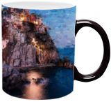 Cinque Terre, Manarola, Italy, Paintings, Impressionism, Architecture, Oil, By Angelo