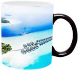 Maldives,Over water Bungalows, Paintings, Fine Art, Window on the World, Watercolor, By Angelo