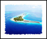 Over Water Villas,Maldives, Paintings, Fine Art, Window on the World, Watercolor, By Angelo