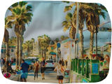 San Diego On Pacific Beach, Paintings, Fine Art, Window on the World, Watercolor, By Angelo