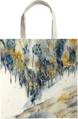 Snowing in the valley, Paintings, Abstract, Impressionism, Landscape, Ink, Watercolor, By Aniko Hencz