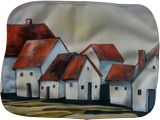 The smallest village, Paintings, Expressionism, Modernism, Architecture, Cityscape, Landscape, Oil, By Aniko Hencz