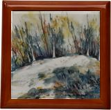The wooden hill, Paintings, Abstract, Expressionism, Impressionism, Landscape, Nature, Ink, Watercolor, By Aniko Hencz