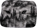 Yellowstone Wolf, Digital Art / Computer Art, Photography, Fine Art, Animals, Landscape, Canvas, By Travis Glasgow